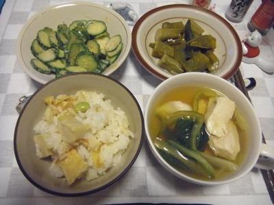 RIMG0011_0514夜-筍ご飯、うるいのスープ、オクラカレー、キュウリ胡麻和え_400.jpg