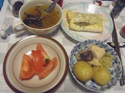 RIMG0028_0628夜-チキンスープ煮、チーズジャコトースト、トマト、エスニックスープ_400.jpg