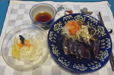 RIMG0014_0721夜-ナムルのっけ鰹のたたき、そうめん、甘酢生姜_400.jpg