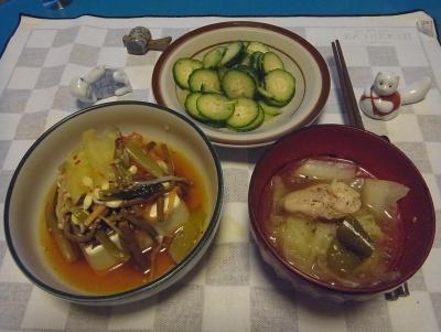 RIMG0007_0726夜-中華風冷奴、チキンと夏野菜のスープ煮、きゅうり_400.jpg