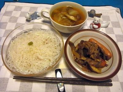 RIMG0039_0729夜-素麺、ナスとソーセージ炒め、野菜スープ_400.jpg