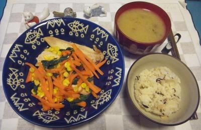 RIMG0017_1116夜-ささみと野菜ソテー、味噌汁、時雨ご飯_400.jpg