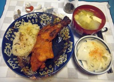 RIMG0017_1213夜-タンドリーチキン、ポテトサラダ、酢蓮、豆腐のスープ_400.jpg