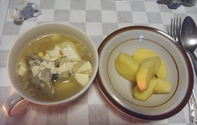 RIMG0009_1221夜-リンゴ、卵と豆腐のスープ_400.jpg