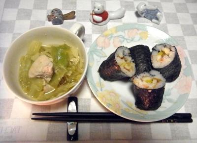 RIMG0010_0202夜-海苔巻き寿司、鶏とキャベツの煮物_400.jpg