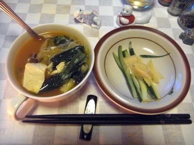 RIMG0018_0213夜-豆腐鍋、キュウリと生姜の酢漬け_400.jpg
