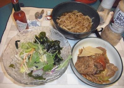 RIMG0024_0323夜-イワシつみれ焼き、こんにゃくサラダ、シメジ蕎麦_400.jpg