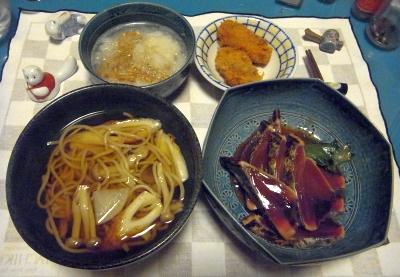 RIMG0013_0427夜-かつおのたたき、蕎麦、おろし納豆、牡蠣フライ_400.jpg