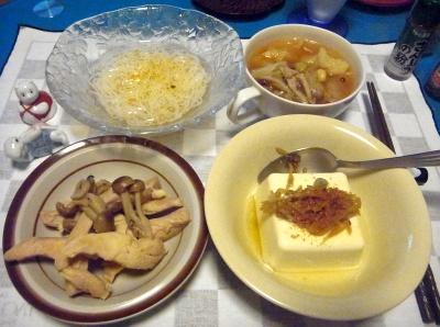 RIMG0031_0717夜-鶏煮込み、生姜奴、野菜スープ、そうめん_400.jpg