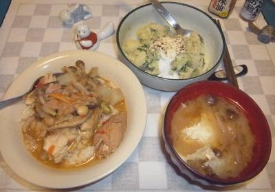 RIMG0008_0724夜-チキンとツナカレー、卵味噌汁、ポテトサラダ_400.jpg