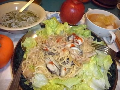 RIMG0029_1130夜-牡蠣焼きそば、しらすメカブおろし、キャベツのスープ煮_400.jpg