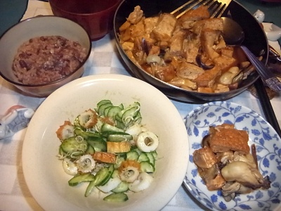 RIMG0005_1208夜-牡蠣と厚揚げの炒めもの、お赤飯、しらすサラダ_400.jpg