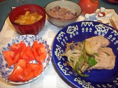 RIMG0004_1216夜-ポークソテー、トマト、豆腐スープ、お赤飯_400.jpg