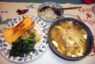 RIMG0003_0112夜-あげ焼き、小松菜添え、フォー風蕎麦、しらすもずく_400.jpg