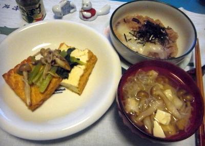 RIMG0019_0115夜-厚揚げステーキ、しらたき鍋、餅入りあずき粥_400.jpg