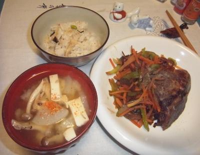 RIMG0029_0125夜-豆腐の味噌汁NEW味噌、ぶり照り焼き、筍ご飯_400.jpg