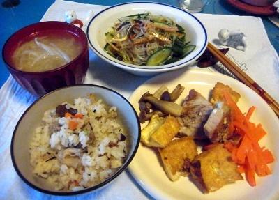 RIMG0010_0222夜-ポークソテー、炊き込みご飯、春雨サラダ、味噌汁_400.jpg