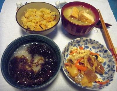 RIMG0021_0224夜-おろしもずく、和惣菜、炊き込みご飯、厚揚げの味噌汁_400.jpg