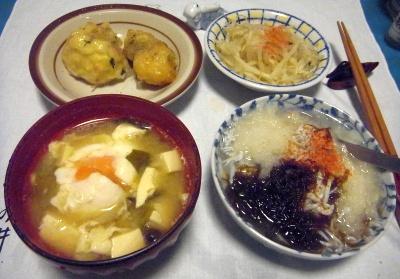 RIMG0012_0318夜-もずくしらすおろし、卵味噌汁、もやしおひたし、白身魚揚_400.jpg