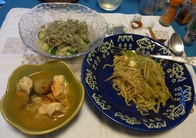 RIMG0014_0611夜-鶏煮物、焼きそば、コウナゴサラダ_400.jpg