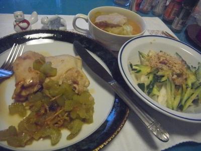 RIMG0032_0619夜-チキンソテーセロリ添、きゅうり大根サラダ、ポークスープ_400.jpg