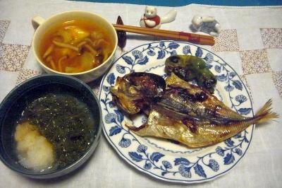 R0010298_0820夜-鯵の干物、おろしめかぶ、チキンカレースープ_400.jpg