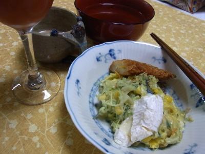 RIMG0028_1018夜-チキンフライ、キャベツ炒め、カマンベールチーズ、スープ.jpg
