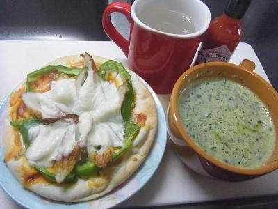R0011724_0410昼-ちくわピザ、ほうれん草スープ_400.jpg