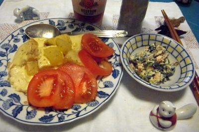 R0012077_0607夜-厚揚げチーズソテー、トマト、白和_400.jpg