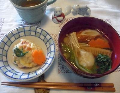 R0013652_0107昼-お雑煮、蟹しんじょ_400.jpg