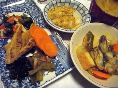 R0013742_0118夜-牡蠣の炒め者、炊合せ、きなこ餅、味噌汁_400.jpg