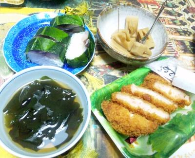 SBSH0688_0423昼-鯖押し寿司、とんかつ、筍煮物、わかめお吸い物_400.jpg