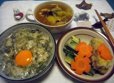 R0014341_0522夜-めかぶ卵ご飯、イカしんじょとにんじんサラダ、ポトフ_400.jpg