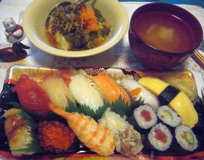 R0014485_0629夜-握り寿司、おろし人参めかぶ奴、味噌汁_400.jpg