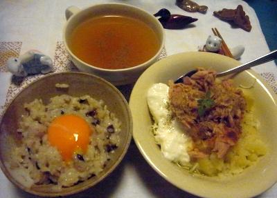 R0014591_0719夜-卵ご飯、ツナポテトサラダ、スープ_400.jpg