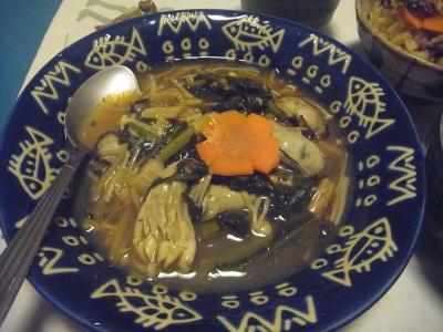 R0015548_1119夜-牡蠣と春菊とえのき茸の炒め物_400.jpg