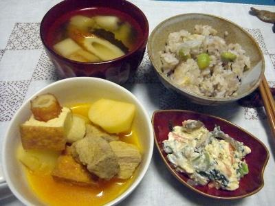 R0016314_0508夜-ポークスープ煮、白和え、枝豆ご飯、ちくわ味噌汁_400.jpg