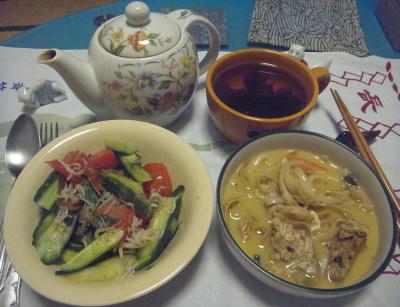 R0016451_0612夜-タイ風ヌードル卵スープ、シラスサラダ、わかめスープ_400.jpg