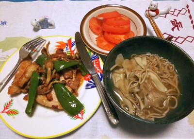 DSC_0791_1104夜-キノコ蕎麦、ポークソテー、トマト_400.jpg