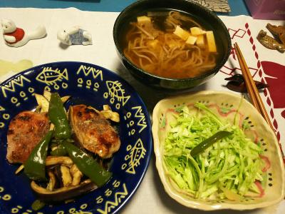 DSC_0826_1111夜-ポークソテー、蕎麦、キャベツサラダ_400.jpg