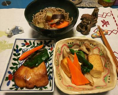 DSC_0958_1130夜-ぶりの照り焼き、厚揚げと野菜蒸し焼き、温蕎麦_400.jpg