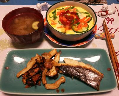 DSC_1072_1204夜-スズキのポワレ、エリンギ添え、豆腐タマゴチーズ、みそ汁_400.jpg