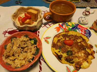 DSC_1409_0116夜-ジャガイモ卵焼き、サンマオレンジご飯、厚揚げ焼き、スープ_400.jpg