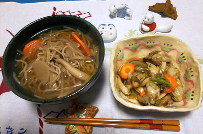 DSC_1413_0117夜-牡蠣と野菜炒め、温蕎麦_400.jpg