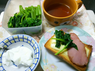 DSC_1878_0324昼-アシタバ焼き豚チーズトースト、ヨーグルト、スープ_400.jpg