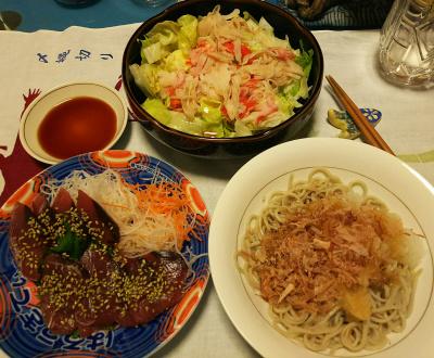 DSC_2577_0514夜-おろし納豆おかか蕎麦、カツオお造り、ロブスター風レタスサラダ_400.jpg