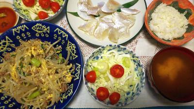 DSC_3329_0726夜-福井の小鯛の笹ぐ家、モヤシ炒め、セロリサラダ、シジミのみそ汁_400.jpg