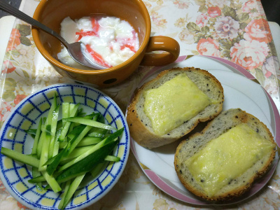 DSC_3480_0809昼-チーズトースト、紅ショウガヨーグルト、キュウリ_400.jpg