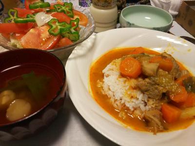 DSC_3505_0811夜-ポークと人参のタイカレー、トマトサラダ、スープ_400.jpg