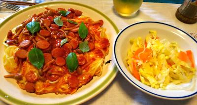 DSC_3809_0910昼-スパゲティ卵焼きピザ風、サラダ_400.jpg
